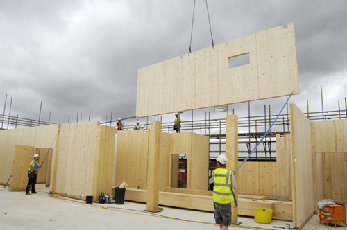 Cross Laminated Timber Installation